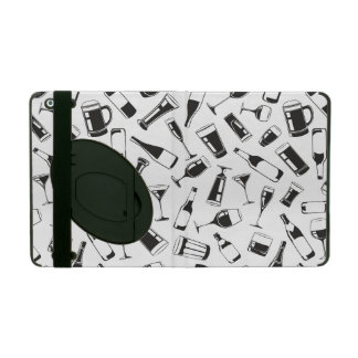 Black Pattern Drinks and Glasses Case For iPad