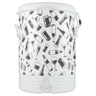 Black Pattern Drinks and Glasses Cooler
