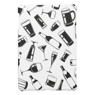 Black Pattern Drinks and Glasses Cover For The iPad Mini