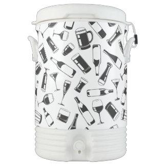 Black Pattern Drinks and Glasses Drinks Cooler