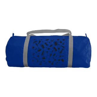 Black Pattern Drinks and Glasses Gym Bag