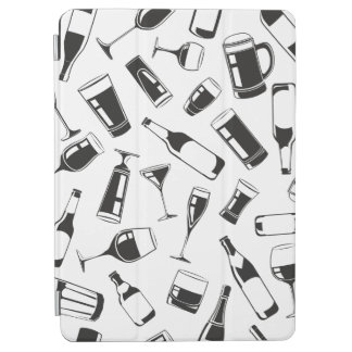 Black Pattern Drinks and Glasses iPad Air Cover