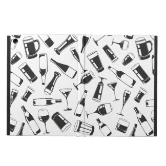 Black Pattern Drinks and Glasses iPad Air Covers