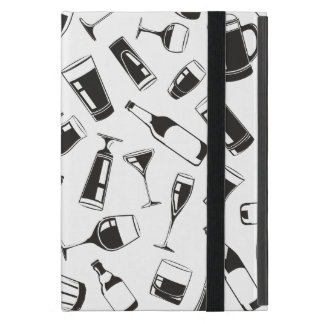 Black Pattern Drinks and Glasses iPad Mini Cases