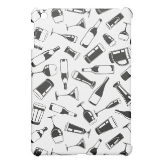 Black Pattern Drinks and Glasses iPad Mini Cover