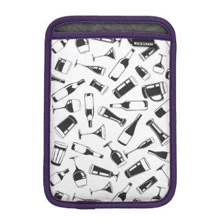 Black Pattern Drinks and Glasses iPad Mini Sleeve