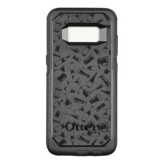Black Pattern Drinks and Glasses OtterBox Commuter Samsung Galaxy S8 Case