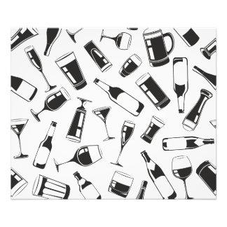 Black Pattern Drinks and Glasses Photo Print