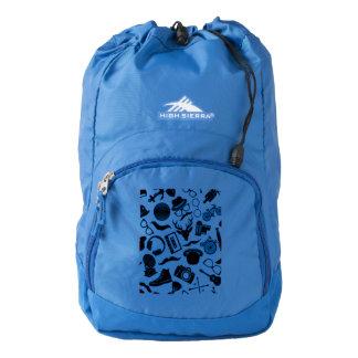 Black Pattern Hipster Backpack