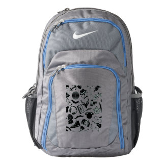 Black Pattern Hipster Backpack
