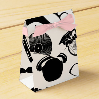 Black Pattern Hipster Favour Box