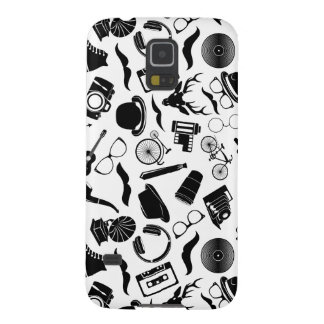 Black Pattern Hipster Galaxy S5 Case