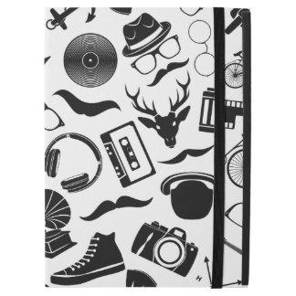 "Black Pattern Hipster iPad Pro 12.9"" Case"