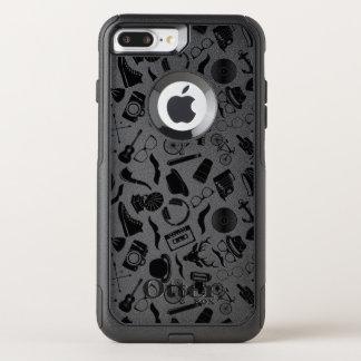 Black Pattern Hipster OtterBox Commuter iPhone 8 Plus/7 Plus Case