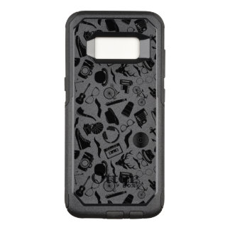Black Pattern Hipster OtterBox Commuter Samsung Galaxy S8 Case