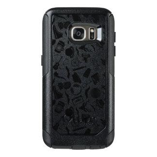 Black Pattern Hipster OtterBox Samsung Galaxy S7 Case
