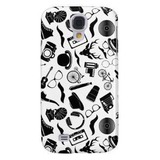 Black Pattern Hipster Samsung Galaxy S4 Case