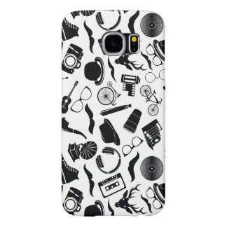 Black Pattern Hipster Samsung Galaxy S6 Cases
