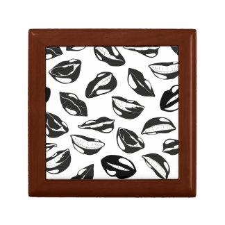 Black Pattern Lips Gift Box