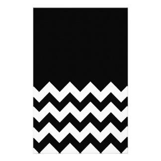Black-Pattern-On-Black-&-White-Zigzag Stationery Design