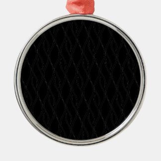 Black pattern Silver-Colored round decoration
