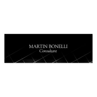 Black Pattern Slim Traditional Font Classic Double-Sided Mini Business Cards (Pack Of 20)