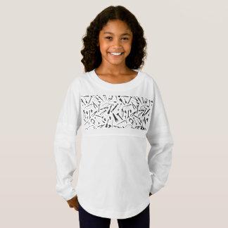 Black Pattern Tools Jersey Shirt