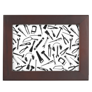 Black Pattern Tools Memory Box
