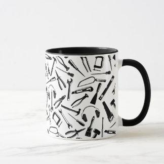 Black Pattern Tools Mug