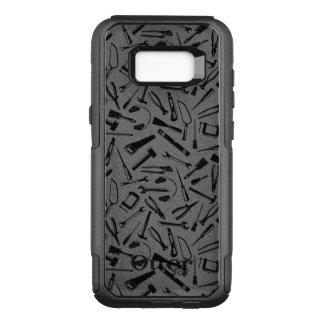 Black Pattern Tools OtterBox Commuter Samsung Galaxy S8+ Case