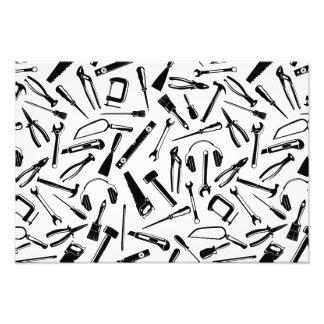 Black Pattern Tools Photo Print