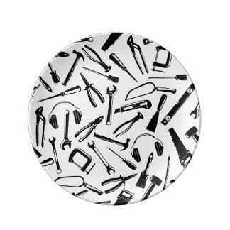 Black Pattern Tools Plate