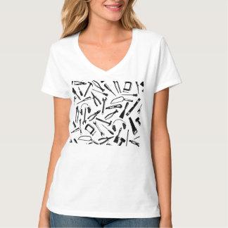 Black Pattern Tools T-Shirt