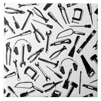 Black Pattern Tools Tile