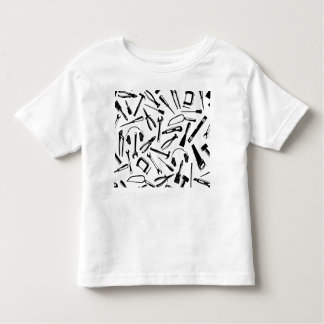 Black Pattern Tools Toddler T-Shirt