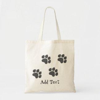 Black Paw Prints Bag