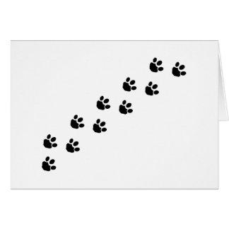 Black Paw Prints Card