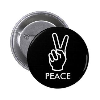 black peace button