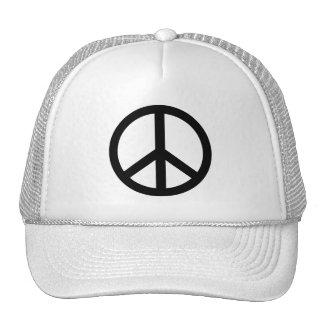 Black Peace Sign Trucker Hats