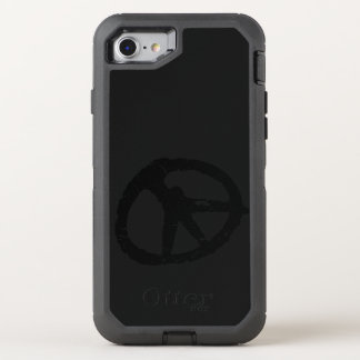 black peace sign ripped art OtterBox defender iPhone 8/7 case