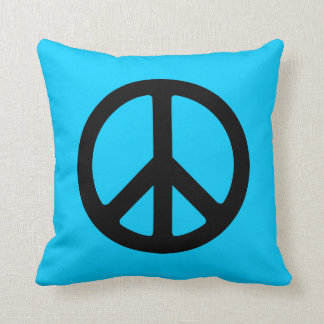 Black Peace Sign Throw Cushions