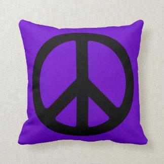 Black Peace Symbol Cushion