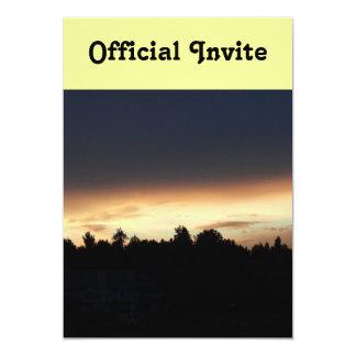 Black Peach Sunset Over Lake Swan Georgia 13 Cm X 18 Cm Invitation Card