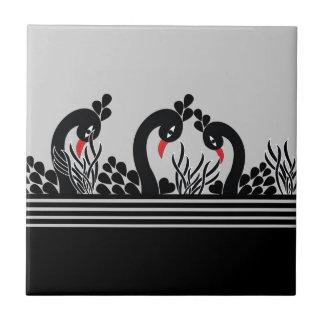 black peacock ceramic tile
