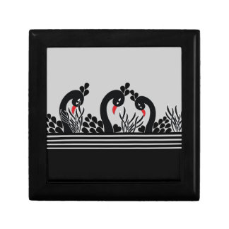 black peacock gift box