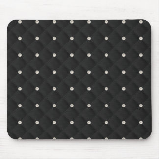 Black Pearl Stud Quilted Mousepads