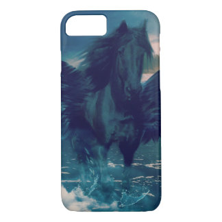 Black Pegasus Emerging From The Sea iPhone 7 Case