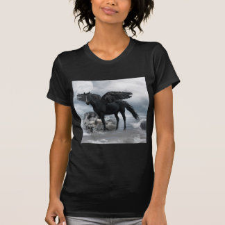 black Pegasus horse T-Shirt