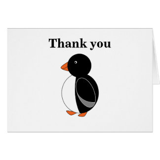 Black penguin card