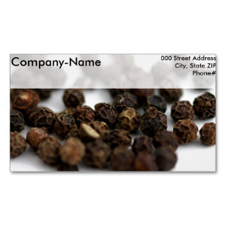 Black Pepper Magnetic Business Cards